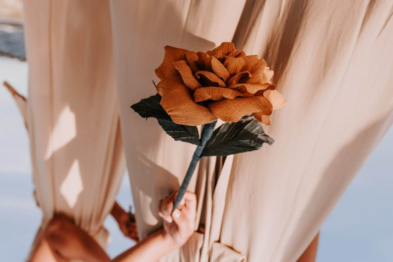 orange flower wedding photography detail bondi beach